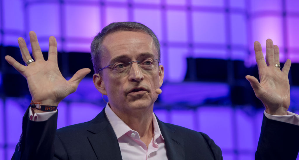 VMware CEO Pat Gelsinger speaking at a conference in 2017