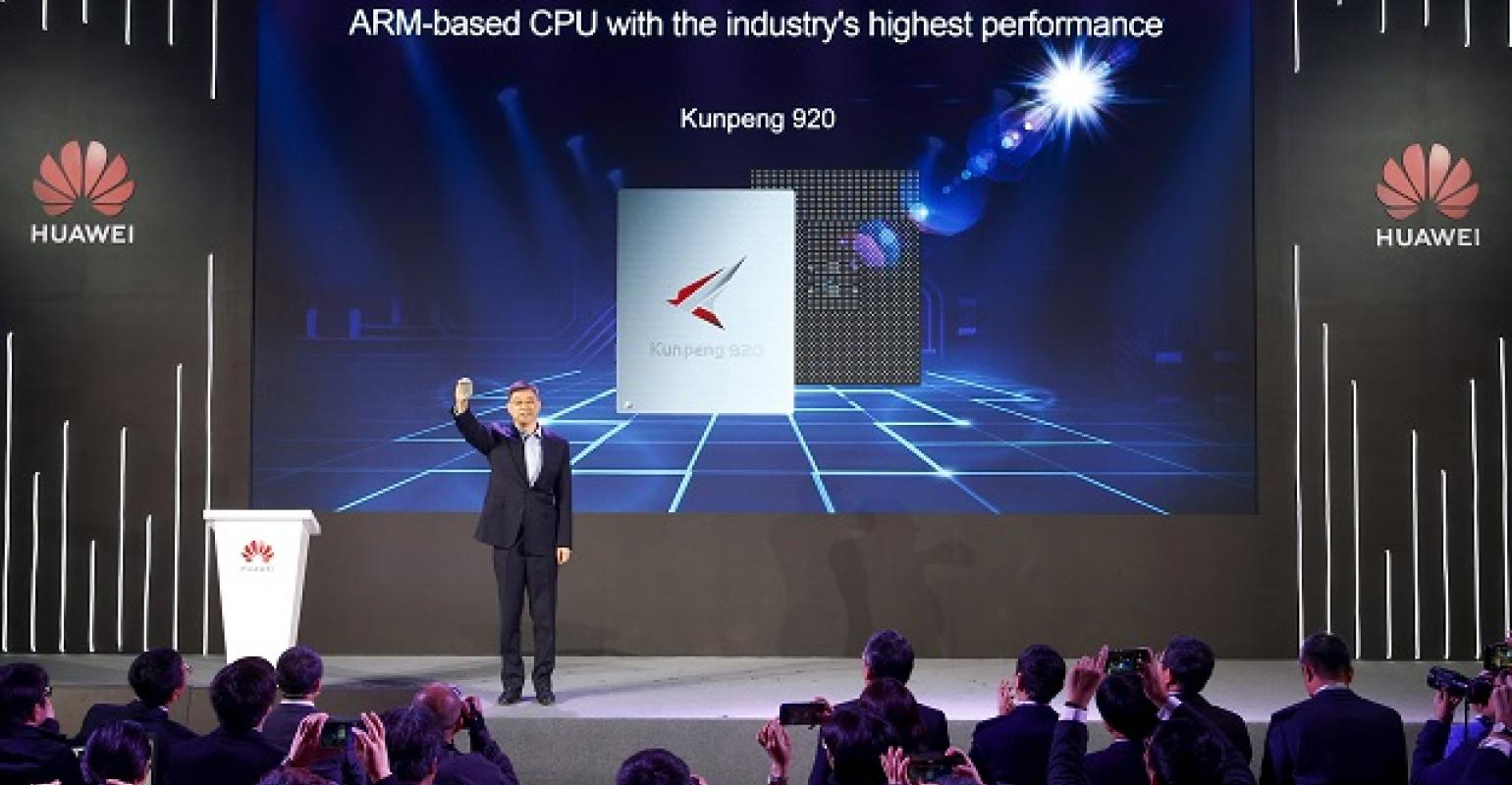 Huawei Unveils New Chipset Using Arm Design for Server Push