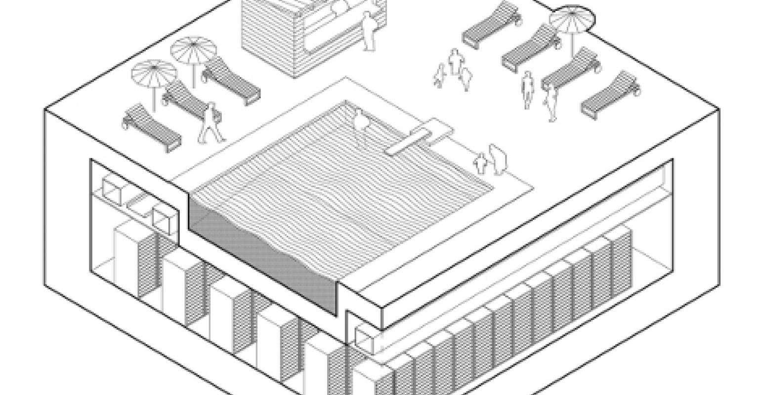 Startup Envisions Data Centers For Cities Of The Future Diagram A Network Architecture In Multistory Building