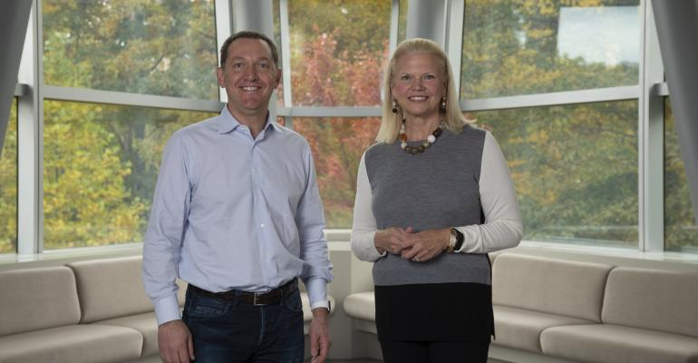 IBM CEO Ginni Rometty with Red Hat CEO Jim Whitehurst