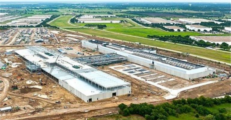 Facebook data center under construction in Fort Worth, Texas