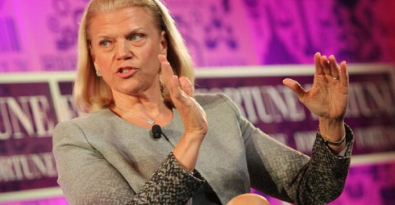 Chairwoman and CEO of IBM Ginni Rometty speaks onstage at the FORTUNE Most Powerful Women Summit in 2013 in Washington, DC.