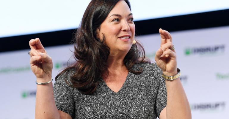 PagerDuty CEO Jennifer Tejada speaking at TechCrunch Disrupt 2019 in San Francisco