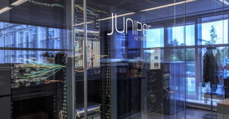 Juniper Networks switch bank