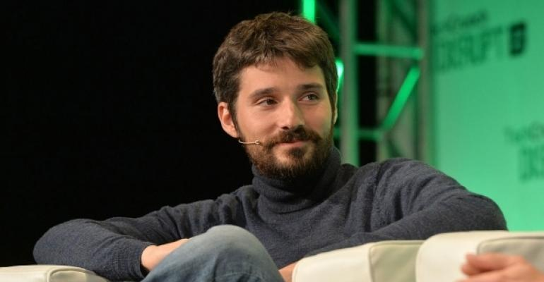 Docker CTO Solomon Hykes appears on stage at the 2014 TechCrunch Disrupt Europe/London.