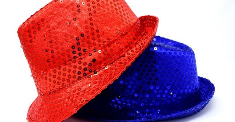 Red Hat over IBM blue hat