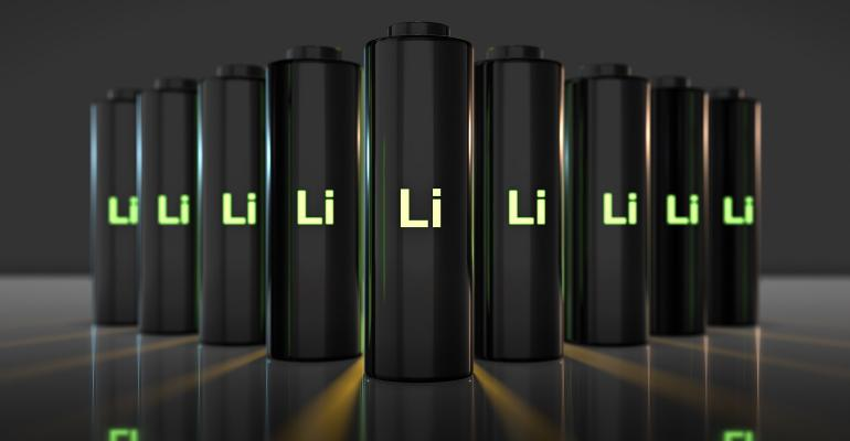 3D render graphic of batteries and battery technology with fast recharge high power electric energy supply to run a green renewable energy battery storage future
