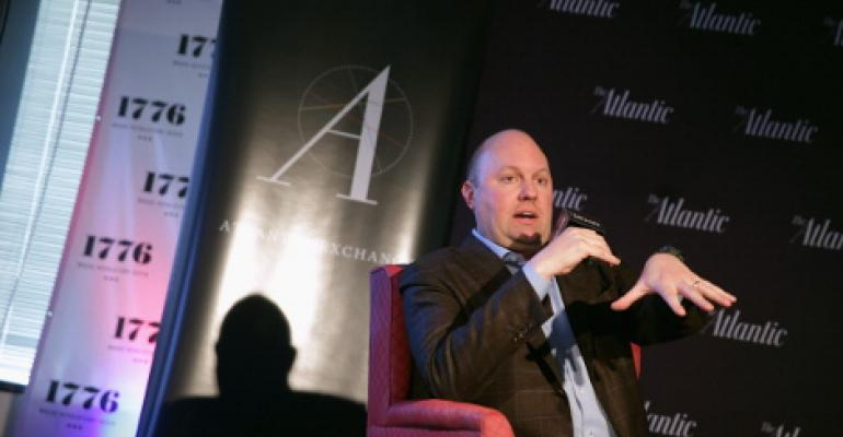 Venture capitalist and co-founder of Andreessen Horowitz Marc Andreessen. An internet pioneer and co-founder of Netscape, Andreessen sits on the board of directors of Facebook, eBay, and HP.