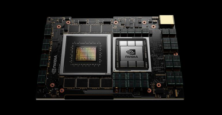 Rendering of Nvidia's upcoming Grace CPU