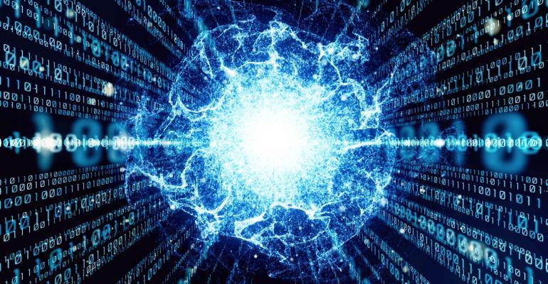 Conceptual image of quantum computing
