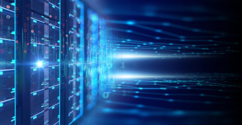 Server room with server racks in datacenter banner. 3d illustration stock photo.jpg