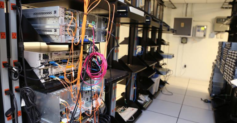 Racked servers