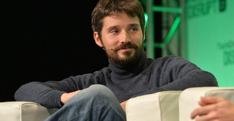 Docker founder Solomon Hykes appears on stage at the 2014 TechCrunch Disrupt Europe/London 2014.