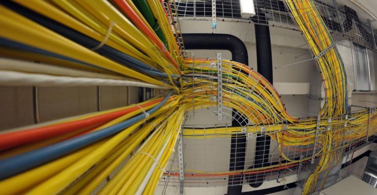 Telehouse Paris Voltaire data center network cables, 2011