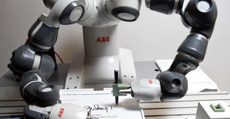 ABB's collaborative YuMi robot for small-parts assembly