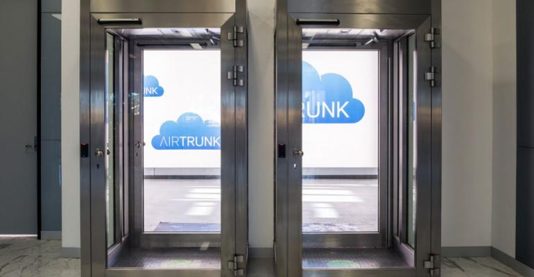 A mantrap inside AirTrunk's Sydney data center