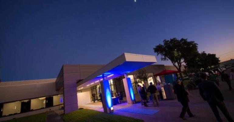 Entrance to the Aligned Energy data center in Plano, Texas