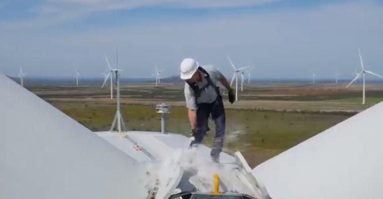 bezos amazon wind farm texas christening
