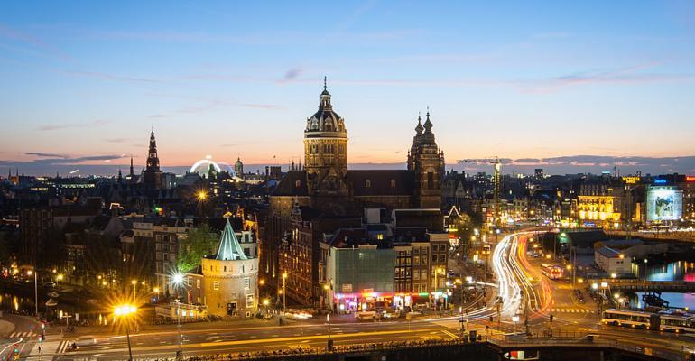 Amsterdam skyline, 2014