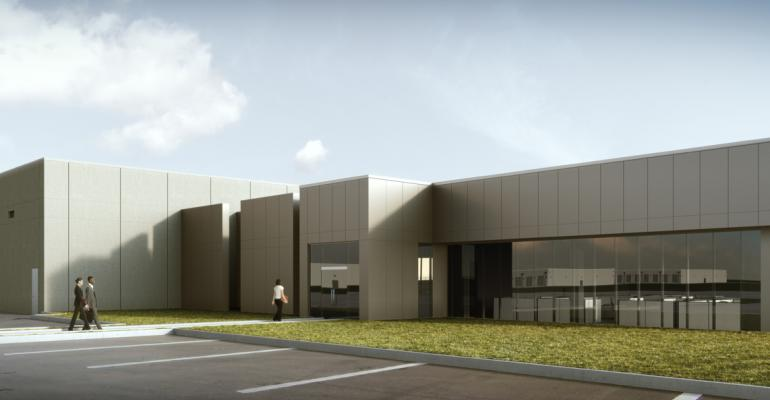 Rendering of the future Apple data center in Waukee, Iowa