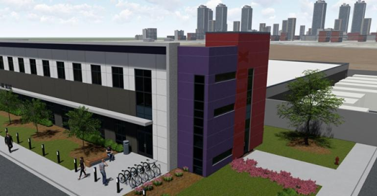 Rendering of the planned DC Blox data center in Birmingham, Alabama