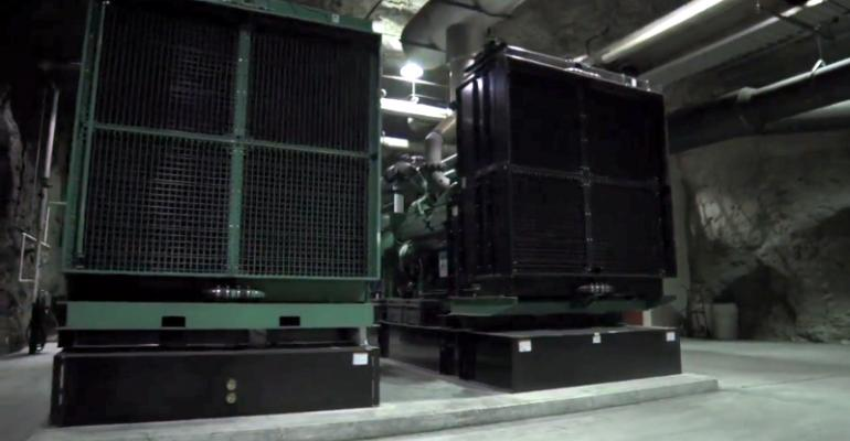 Backup generators of the Bluebird data center inside a former mine in Springfield, Missouri