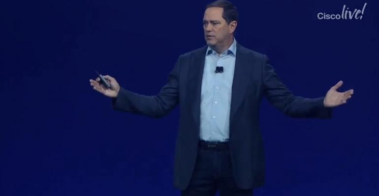 Cisco CEO Chuck Robbins speaking at Cisco Live! 2018