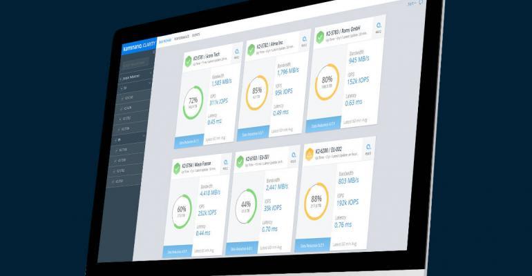 Kaminario Clarity dashboard