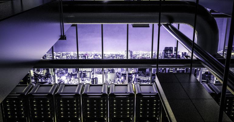 Data center cooling system, digital rendering