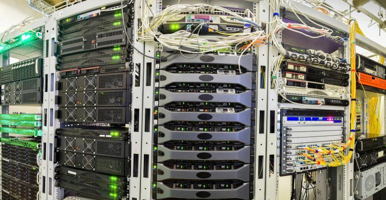 IT racks in a data center