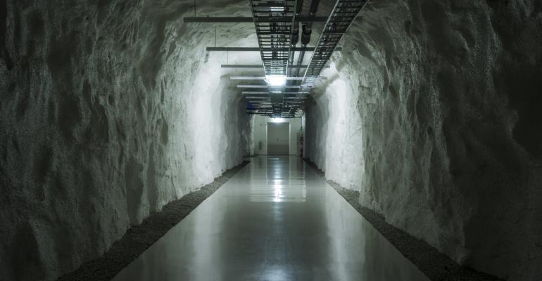Inside Green Mountain's DC1-Stavanger data center, a repurposed former NATO ammunition storage facility built inside a mountain.