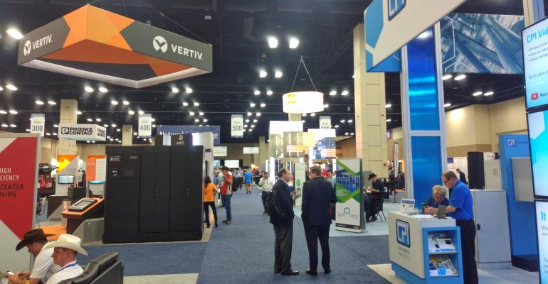 Expo hall at Data Center World Global 2018 in San Antonio, Texas