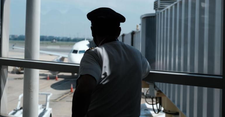 Delta Air Lines pilot in Arlington, Virginia, 2020