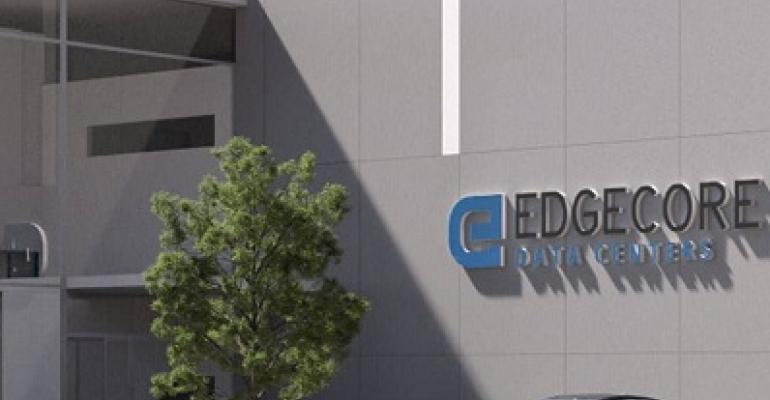 Front entrance to one of EdgeCore's future data centers (rendering)