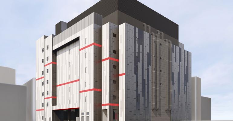 Rendering of Equinix's future SG4 data center in Singapore