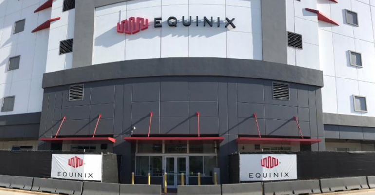 The new entrance to Equinix's MI1 data center in Miami, also known as NAP of the Americas