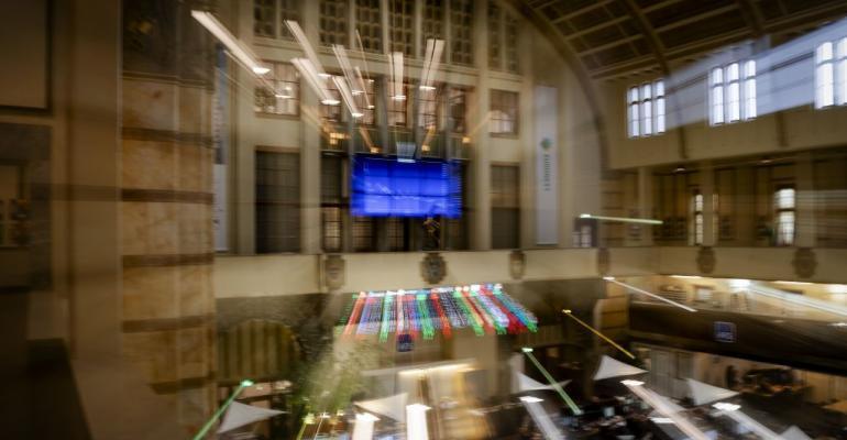 Euronext Amsterdam stock exchange. March 2020