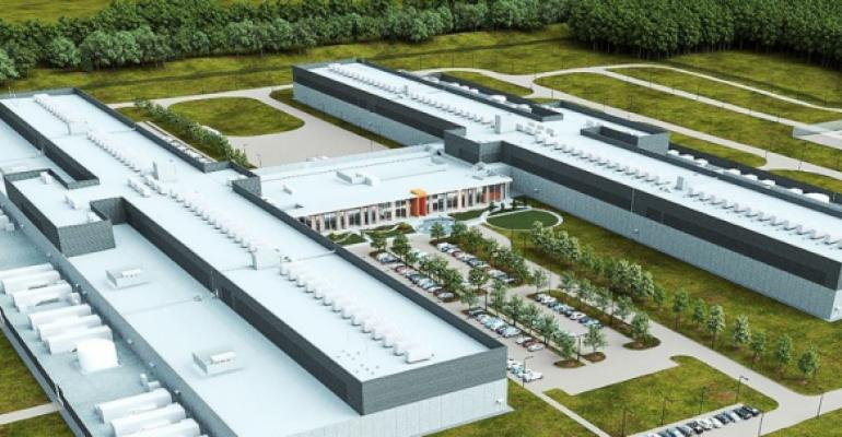 Rendering of the future Facebook data center in Huntsville, Alabama