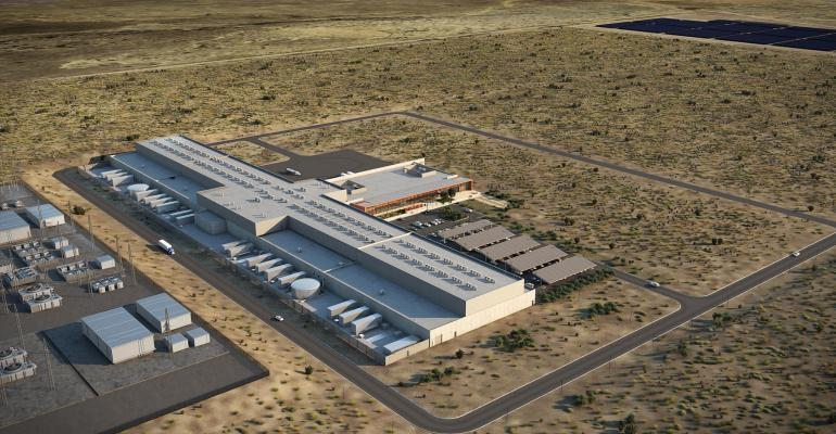 A rendering of Facebook's data center in Los Lunas, New Mexico