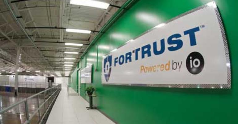 IO.Anywhere data center modules deployed within the FORTRUST data center in Denver.