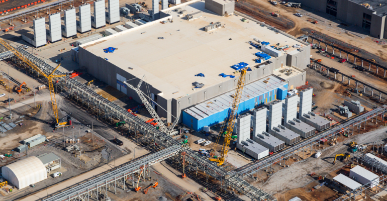 Google data center under construction in Clarksville, Tennessee