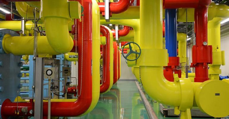 Water pipes inside a Google data center in Changhua, Taiwan (2013)