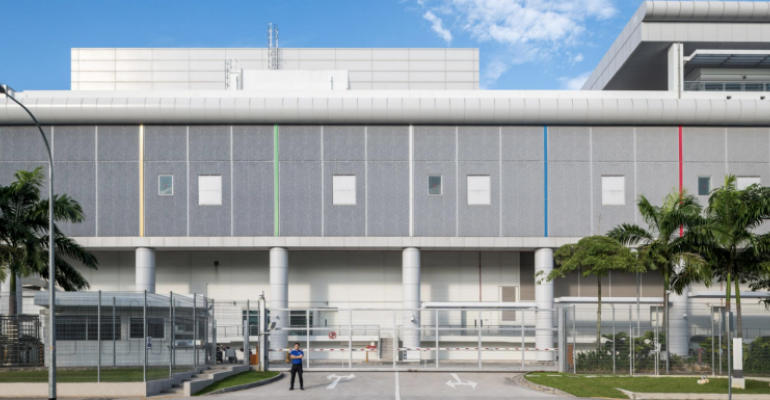 Entrance to the Google data center in Changhua County, Taiwan