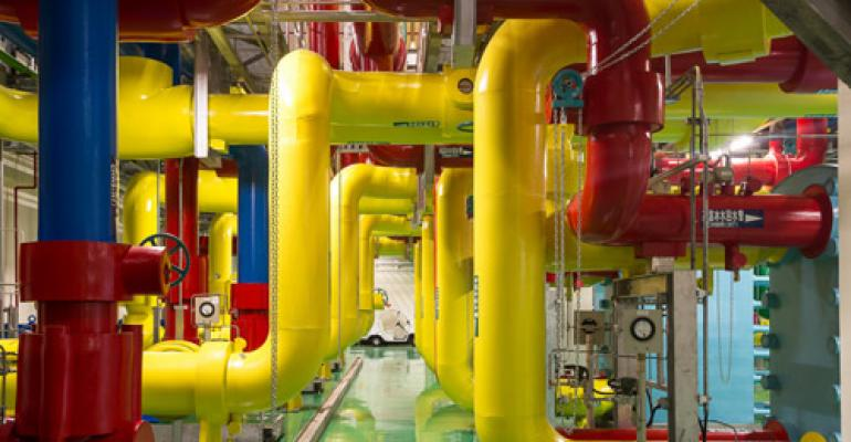 The cooling plant inside Google's Taiwan data center