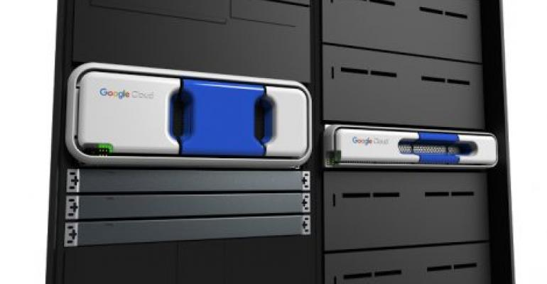 Google's Transfer Appliance offers up to 480TB in 4U or 100TB in 2U of raw data capacity in a single rackmount device