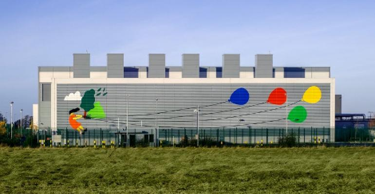A Google data center in Dublin, Ireland