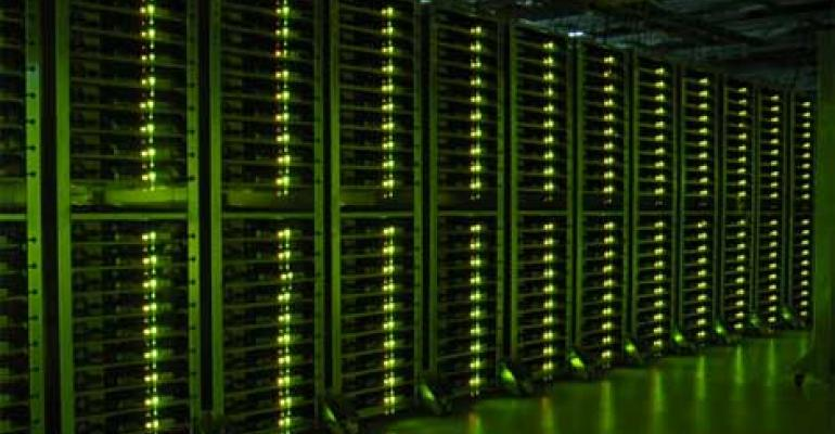 Servers in a Google data center