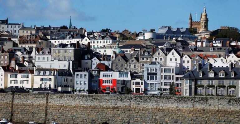 A view of St. Peter Port in Guernsey