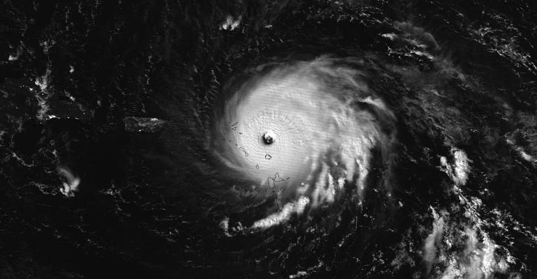 NASA-NOAA's Suomi NPP satellite captured this night-time image of Hurricane Irma over the Leeward Islands on Sept. 6 at 1:35 a.m. EDT