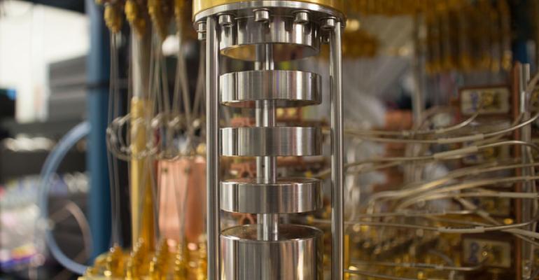 IBM Q quantum computer mixing chamber